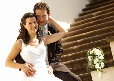 Brautpaar Hinteraufgang Schloss Kornberg