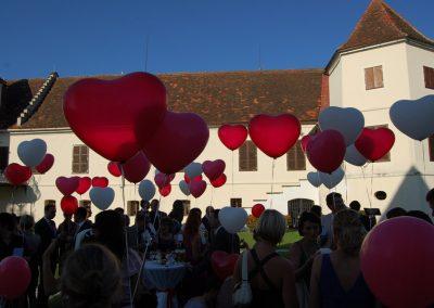 Luftballons Schloss Kornberg